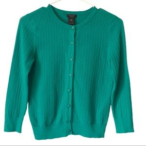Ann Taylor Cable Knit Cardigan Sweater